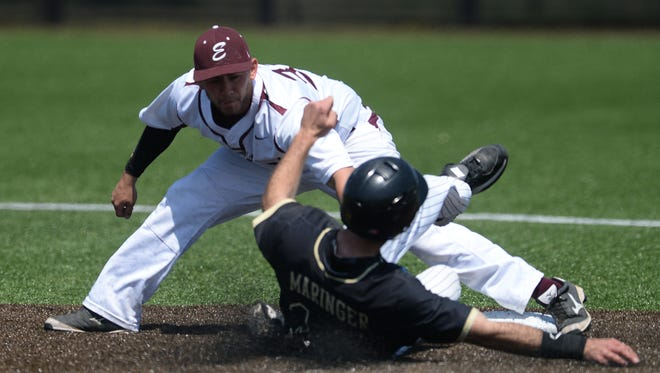 Centerville graduate Josh Parr transferred to Earlham College after playing at DePauw and is now an assistant coach with the Quakers.