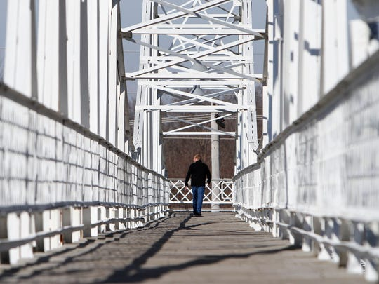 The Jefferson Avenue Footbridge, built in 1902, is a bigger tourist attraction than Springfieldians realize, according to Cafe Cusco owner Joe Gidman. Europeans touring Route 66 and vacationers on their way to Branson often make a stop on Commercial Street, he said.