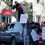 Jersey City teachers strike as talks stall over health care
