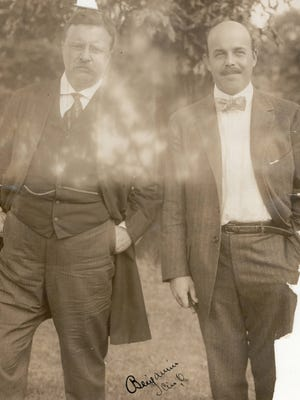 The Enquirer archives have a fragile photograph of President Theodore Roosevelt and son-in-law Nicholas Longworth III in 1906.