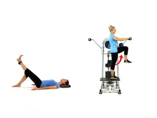 EXERCISE: Straight leg raise, standing hip flexion