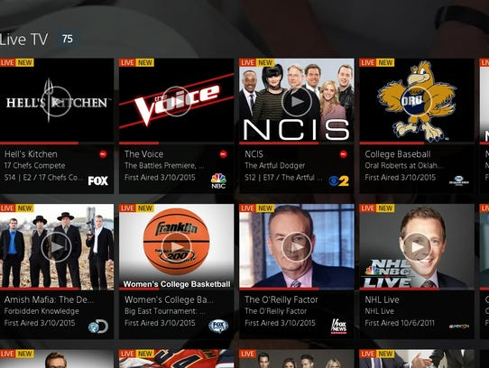 A image of the Sony PlayStation Vue Net video service.
