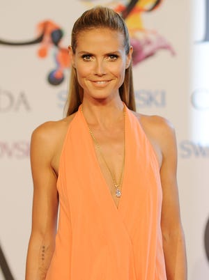 Heidi Klum attends the 2014 CFDA fashion awards at Alice Tully Hall, Lincoln Center on June 2, 2014 in New York City.