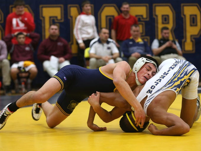 Spencerport's Michael Lopresti  (L) came away with