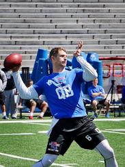 Louisiana Tech quarterback Jeff Driskel throws a pass