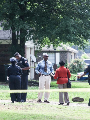 May 25, 2018 - Memphis police on the scene where a