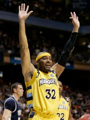 Lazar Hayward and Marquette survived a first-round NCAA Tournament game vs. Utah State in 2009.
