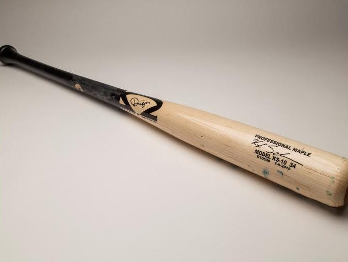 Kyle Schwarber's bat from the Futures Games is in Cooperstown.