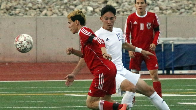 Eastlake took on Jefferson in Class 5A soccer playoff action Monday at the Socorro Activities Complex.