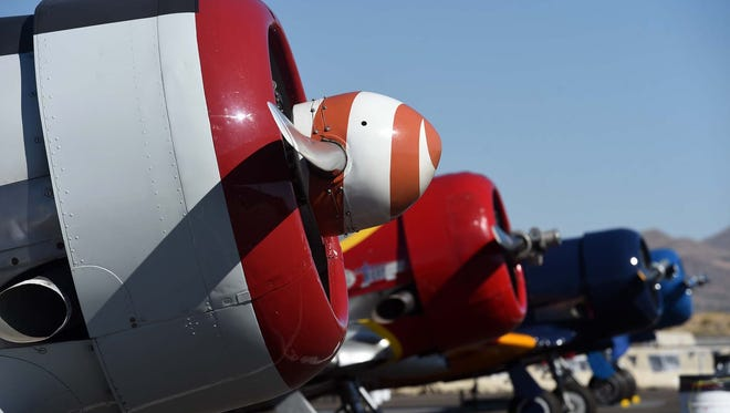 Images of airplanes and crew at the National Championship Air Races at the Reno Stead Airport on Wednesday Sept. 14, 2016.