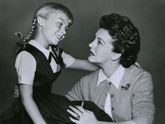 patty McCormack and Nancy Kelly in a 1954 still from