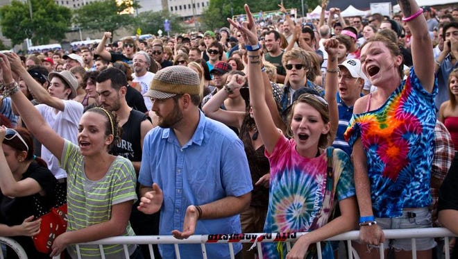 A file photo of the crowd at Party in the Park.