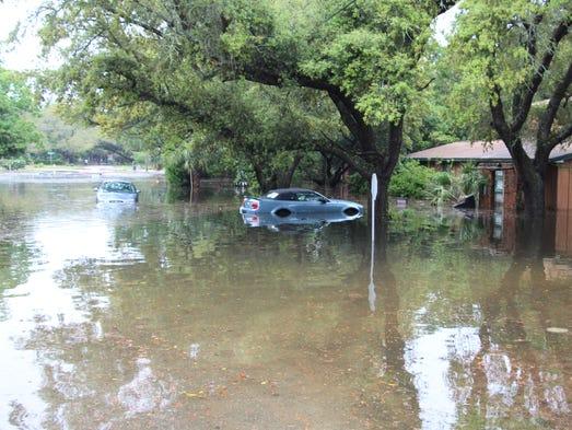 Flood damage in Gulf Breeze.