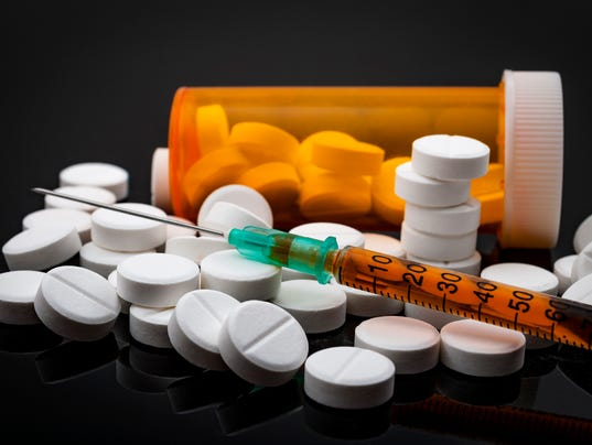 Opioid epidemic and drug abuse concept