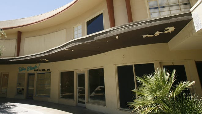 The Town and Country Center in Palm Springs  in June 2011. After years of spats over the building, the City Council appears poised to protect it from demolition - at least temporarily.