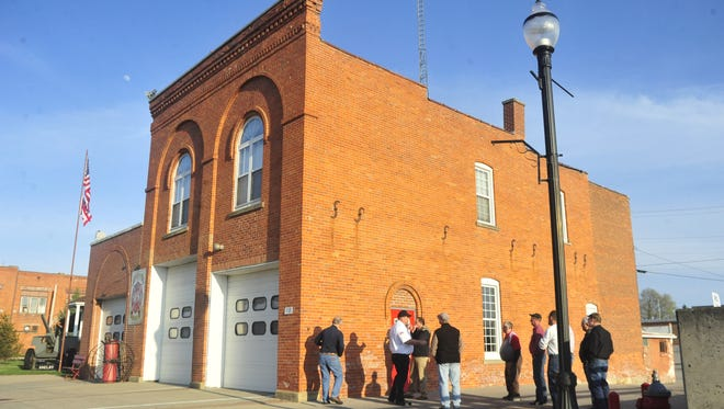 Shelby Fire Chief Mike Thompson gave city officials a tour of the old fire house this spring.
