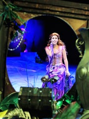 """Emily Fallon plays Ariel in """"Disney's The Little Mermaid"""" at the Flat Rock Playhouse Downtown through July 22."""