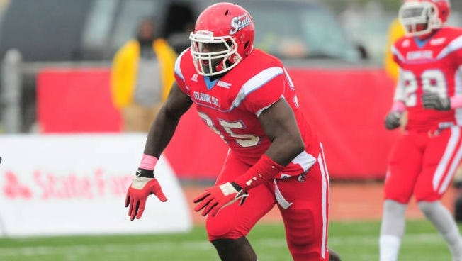 The Cardinals selected Delaware State defensive end Rodney Gunter in the fourth round of the 2015 NFL draft.