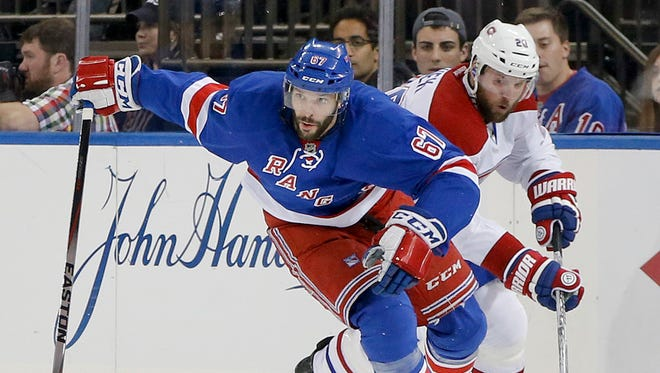 Benoit Pouliot is one unrestricted free agent on the Rangers who increased his value this season.