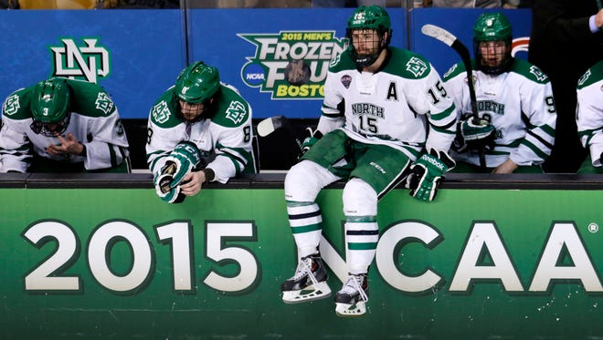 North Dakota reached the Final Four last season, losing to Boston University in the national semifinal. Michigan and North Dakota play tonight in Cincinnati for a spot in this year's Frozen Four.