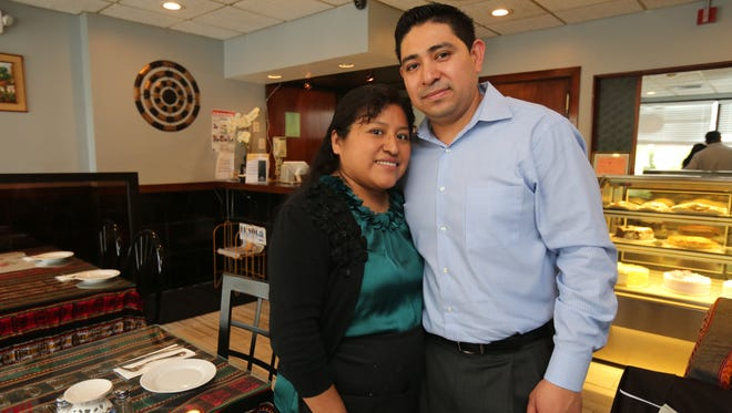 Owners Paola and Guadalupe Velasco at their Incazteca Restaurant on Westchester Avenue in Port Chester.