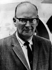 Writer Arthur C. Clarke is shown in a 1968 photo.