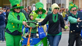 Parade participants show their Irish spirit at last year's Onancock St. Patrick's Day parade.