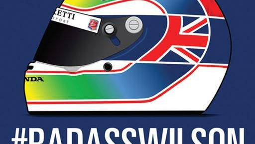 IndyCar drivers and fans will honor the late Justin Wilson with this special logo during the series finale at Sonoma Raceway.