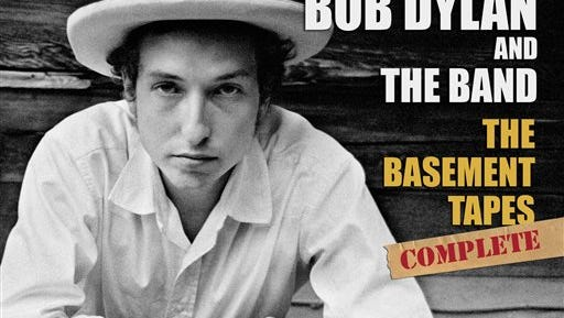 """This box set cover image released by Columbia Records shows Bob Dylan & The Band's, """"The Basement Tapes Complete _ The Bootleg Series Vol. 11."""" This six-CD package of 138 tracks claims to include everything worth hearing from Bob Dylan's 1967 sessions with the Band. (AP Photo/Columbia Records)"""
