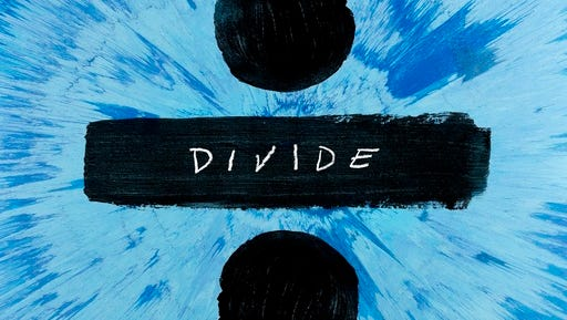 "This cover image released by Atlantic Records shows, ""Divide,"" the latest release by Ed Sheeran."