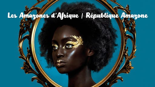 "This cover image released by Real World Records shows, ""Republique Amazone,"" a release by Les Amazones d'Afrique."