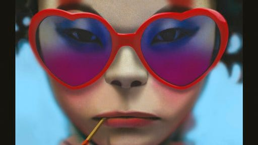 """This cover image released by Warner Bros. shows """"Humanz,"""" the latest release by Gorillaz."""