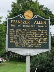 Site of Ebenezer Allen's tavern on South Hero.