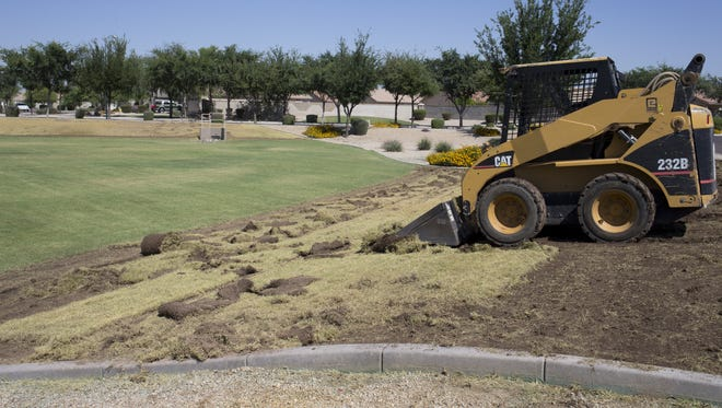 The  homeowners association at Orangewood Estates at 75th and State avenues in Glendale removed 11,000 square feet of turf in 2015.