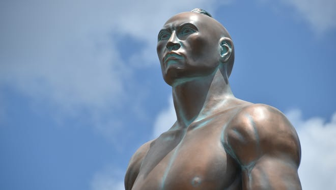 The Chief Quipuha statue  at the Paseo Loop in Hagåtña is shown in this file photo.