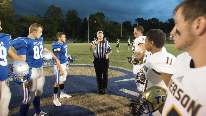 Chase Campbell (82) was a captain for McDowell's football team in 2015.
