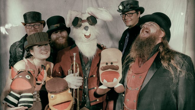 The Velveteen Band will brings its brand of puppet-powered, eclectic, theatrical rock to Discovery Ventura on Saturday.