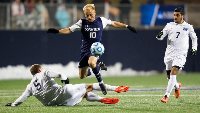 Xavier's Will Walker scored the first NCAA home goal in program history
