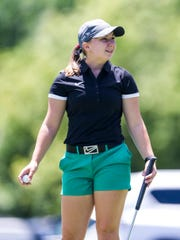 Katelyn Skinner at hole nine during the first round