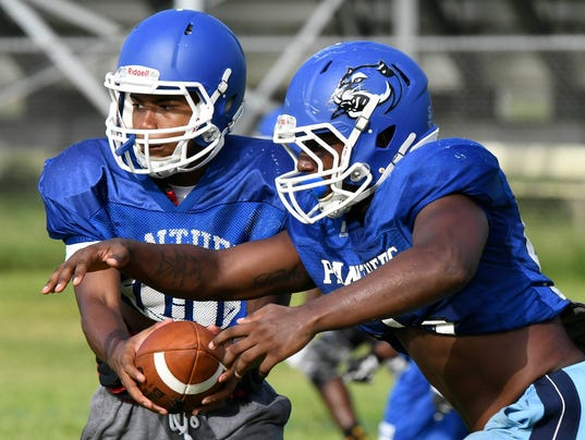 High School Football: Heritage High panthers practice