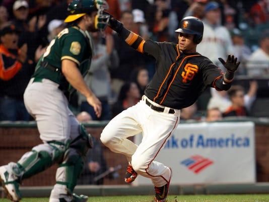 MLB: Oakland Athletics at San Francisco Giants
