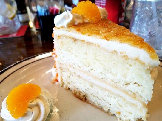 The Harvest Table's decadent Orange Sunshine Cake.