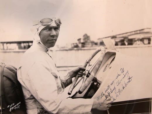 This photo is of Frank Lockhart, from about 1927. Photo Courtesy of Kelly Wilkinson/IndyStar