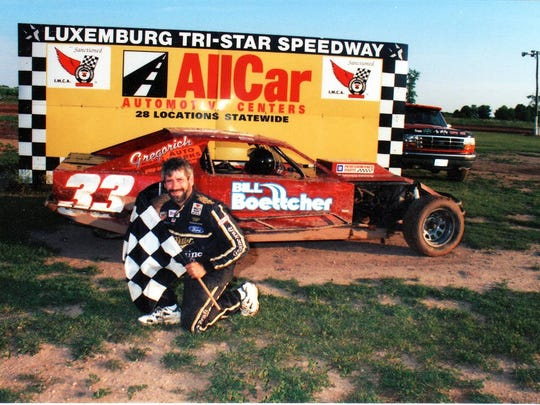 Kewaunee's John Gregorich raced modifieds one season after winning IMCA's national Stock car title in 1993. Gregorich retired from racing when he was 33.