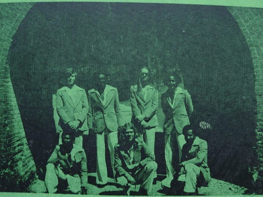 The Underground Railroad, with Ron Barnett, front and center, in a publicity photo from 1976.
