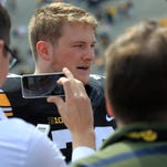 Iowa's Sean Welsh did not play in the April 23 spring game because of an ankle injury.
