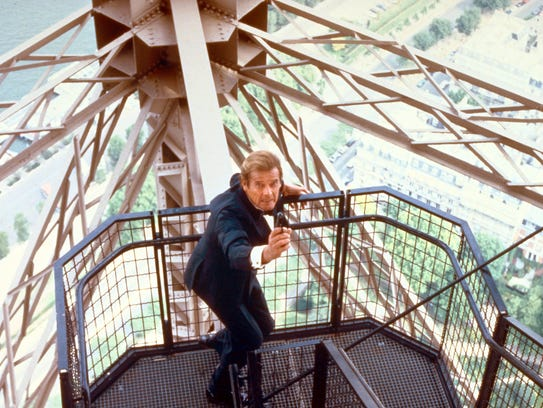 Roger Moore's James Bond had no fear of heights in