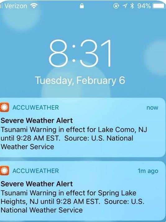 Tsunami warning was false alarm