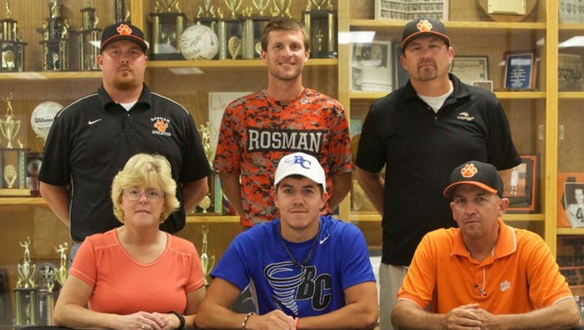 Rosman senior Cam Dotson has signed to play baseball for Brevard College.
