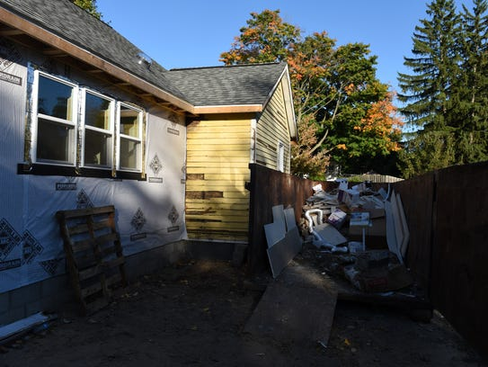 The Nordins' East Street home in Milford is undergoing